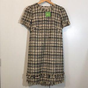 Kate Spade ♠️ bi-color tweed dress
